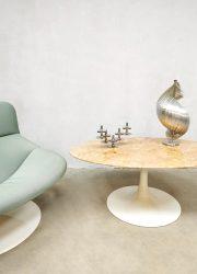 vintage marble coffee table oval salontafel