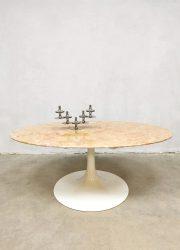 vintage marble coffee table Florence Knoll marmeren salontafel