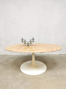 vintage marble coffee table Florence Knoll marmeren salontafel
