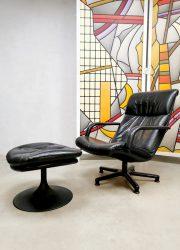 Vintage lounge armchair ottoman Geoffrey Harcourt Artifort