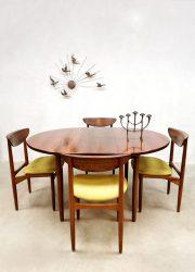 Vintage Danish design extendable rosewood dining table eetkamertafel