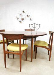 vintage Deense uitschuifbare tafel