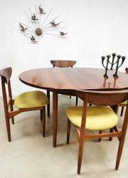 vintage Danish design extendable dining table eetkamertafel