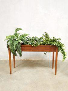 vintage Danish plant stand plantenbak Deens