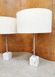 vintage Dutch design Raak marble table lamp tafellamp