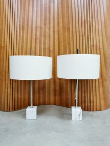 Midcentury Dutch design marble table lamp tafellamp Raak Amsterdam