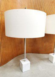 Midcentury tafellamp Dutch design Raak marble table lamp