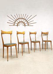 Midcentury Italian dining chairs vintage stoelen Ico & Luisa Parisi