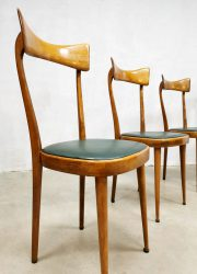 vintage Italiaans design eetkaemer stoelen dinner chairs Italian design fifties
