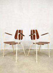 Chairs garden outdoor set Daneline vintage tuinstoel tuinset vintage Danish design Midcentury