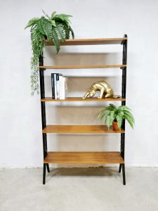 Midcentury Swedish design wall unit room divider bookcase wandkast