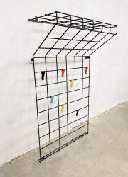 Vintage wall design coat rack wand kapstok musical staff inspired