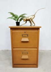 Vintage Dutch industrial filing cabinet archiefkast 'Eeka meubel'