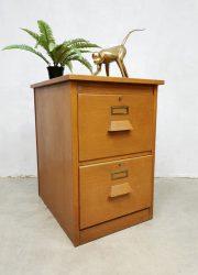 vintage archiefkast industrieel ladekast filing cabinet