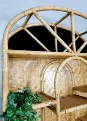 vintage bamboo wall unit kast bamboe wandkast