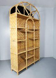 vintage etagere bamboo wall unit kast bamboe wandkast 6
