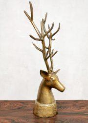 brass deer sculpture decoration statue