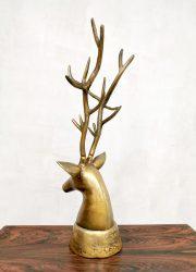 midcentury messing herten kop brass deer sculpture