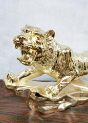 gold tiger decoration panter beeld deco