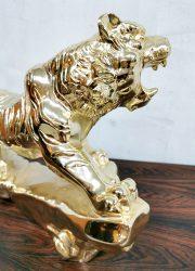 golden tiger vintage panter decoration statue gold