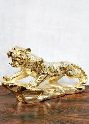 vintage brass Tiger tijger homedecoration