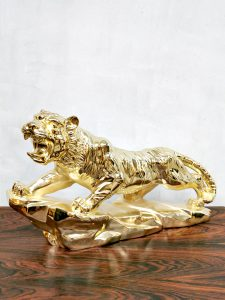vintage brass Tiger tijger homedecoration