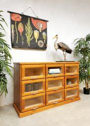 vintage design school cabinet industriële ladekast