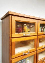 schoolkast industrieel vitrinekast display cabinet