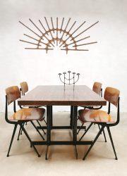 Vintage industrial dining tables industriële bistro tafels 'Molecules shapes'
