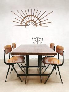 Vintage industrial dining tables industriële bistro tafels 'Molecules shapes'