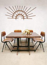 vintage eetkamertafel industrieel industrial dining table