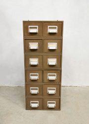 Addressograph industriele archief vintage ladekast filing cabinet industrial