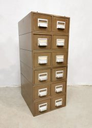 Industrial filing chest of drawers archief ladekast 'Addressograph'