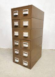 File cabinet archief ladekast industrial Addressograph industrieel vintage