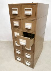 Vintage metal industrial filing chest of drawers archief ladenkast 'Addressograph'