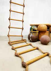 vintage industrial rope ladder industrieel touwladde