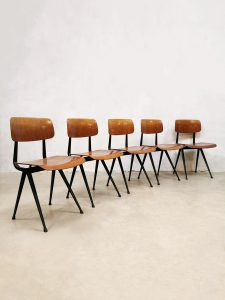 Industrial Dutch design school chairs stoelen Friso Kramer 1st edition