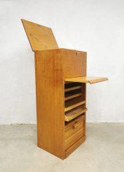 vintage ladekast archiefkast storage filing document cabinet