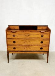 vintage palissander secretaire ladekast rosewood cabinet desk chest of drawers Borge Hansen Riis-Antonsen