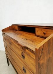 vintage cabinet rosewood secretaire palissander chest of drawers