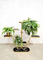 Vintage plant stand plantenstandaard 'Black & Gold piramide'