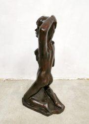 vintage plaster statue decoration naked lady