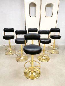 Swedish vintage design bar stools barkrukken Borje Johanson