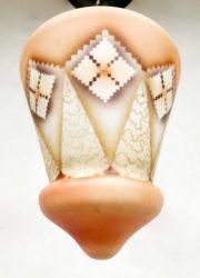 vintage art deco hanglamp plafondlamp opaal glas opaline glass pendant