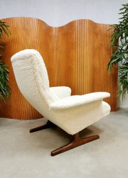 ivory boucle teddy armchair easy chair lounge fauteuil