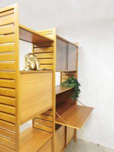 Midcentury ladderax modular wall unit room divider wandsysteem Robert Heal Staples