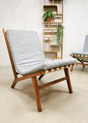 Midcentury Czech design easy chairs Jan Vanek lounge chairs 'Minimalism' vintage design
