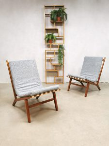 Midcentury Czech design easy chairs Jan Vanek lounge chairs 'Minimalism'