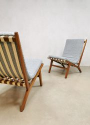 Midcentury Czech design easy chairs Jan Vanek easy chairs 'Minimalism'
