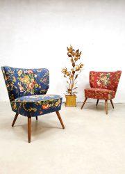 Vintage cocktail chairs clubfauteuils expo stoelen Artifort'Flower chique'